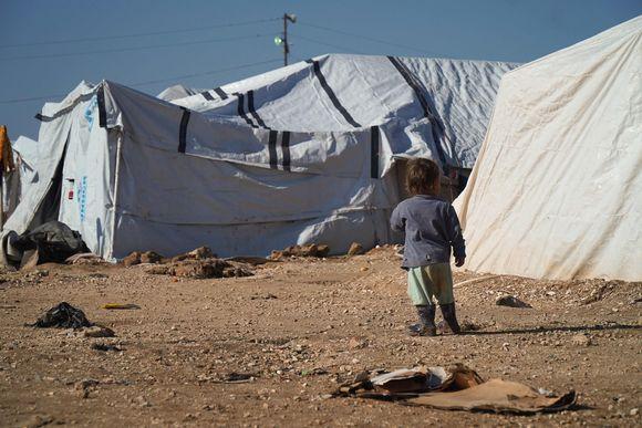 Lapsia al-Holin leirillä.