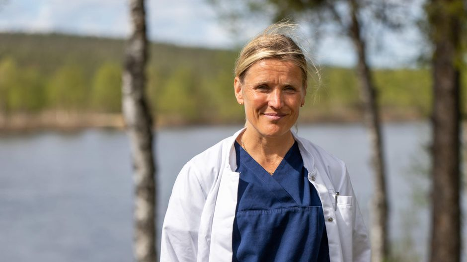 Inarin kunnan johtava lääkäri Outi Liisanantti.