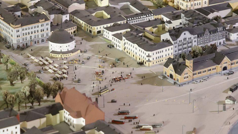 Viipurin pyöreän tornin pienoismalli Etelä-karjalan museossa