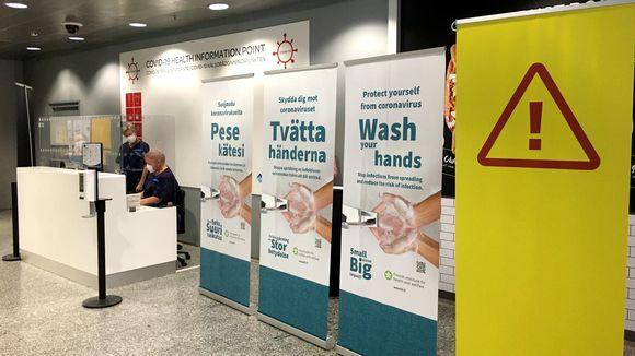 Terveysneuvontapiste Helsinki-Vantaan lentokentällä.