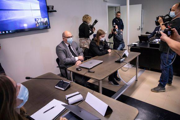 Joel Marin oikeudenkäynnissä Kuopiossa 8.9.2020