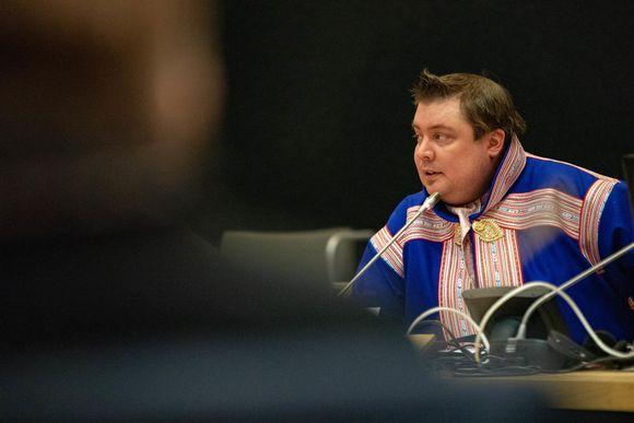 Saamelaiskäräjien puheenjohtaja Tuomas Aslak Juuso