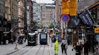 Kuvassa on Aleksanterinkatu Helsingissä syyskuussa 2020.