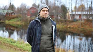 mies syksyisellä polulla, Ivalo