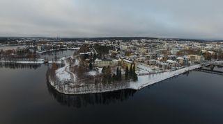 Ilmakuva Sairaalanniemestä Rovaniemellä