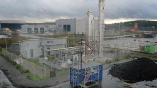 Gasumin biokaasulaitos Kujalan jätekeskuksessa Lahdessa