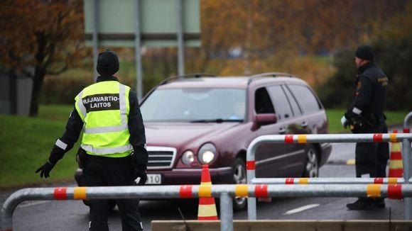 Torniossa Rajavartiostolla on käynnissä rajavalvonta Ruotsin rajalla.