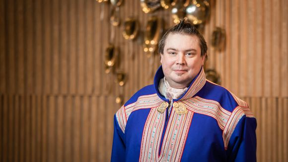 Saamelaiskäräjien puheenjohtaja Tuomas Aslak Juuso.