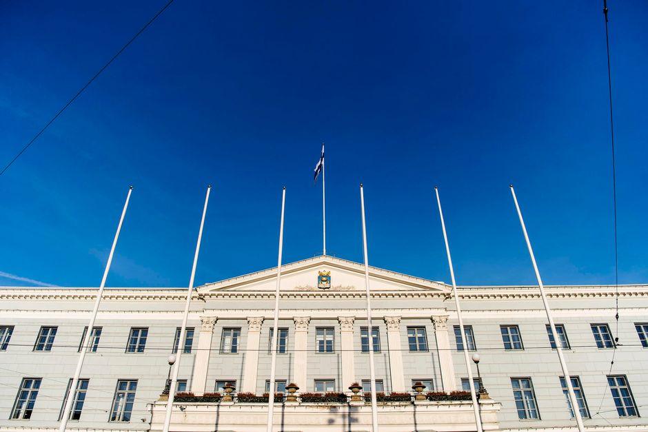 Helsingin kaupungintalo joulukuussa 2020.