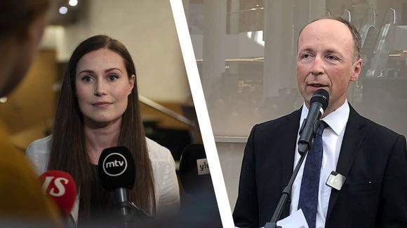 Kuvakoostessa ovat Sanna Marin ja Jussi Halla-Aho.