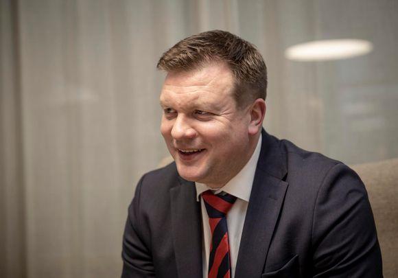 Kehitysyhteistyö- ulkomaankauppaministeri Ville Skinnari Ulkoministeriössä Helsingissä.