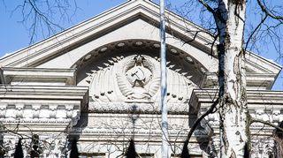 Fasaden till Rysslands ambassad i Helsingfors