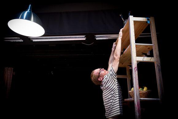 Sirkustaiteilija ja näyttelijä Thom Monckton, Ateneumin taidemuseon sali, 21.08.2017.