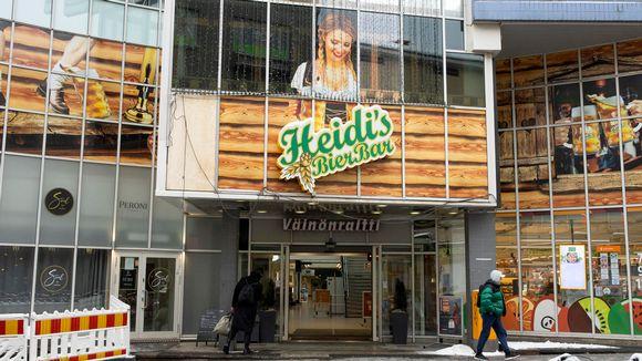 Heidi's Bier Barin kyltti Jyväskylässä.