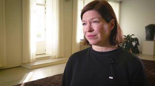 Anni Sinnemäki i stadshuset.