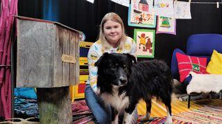Marianne Ketola ja Rihku-koira