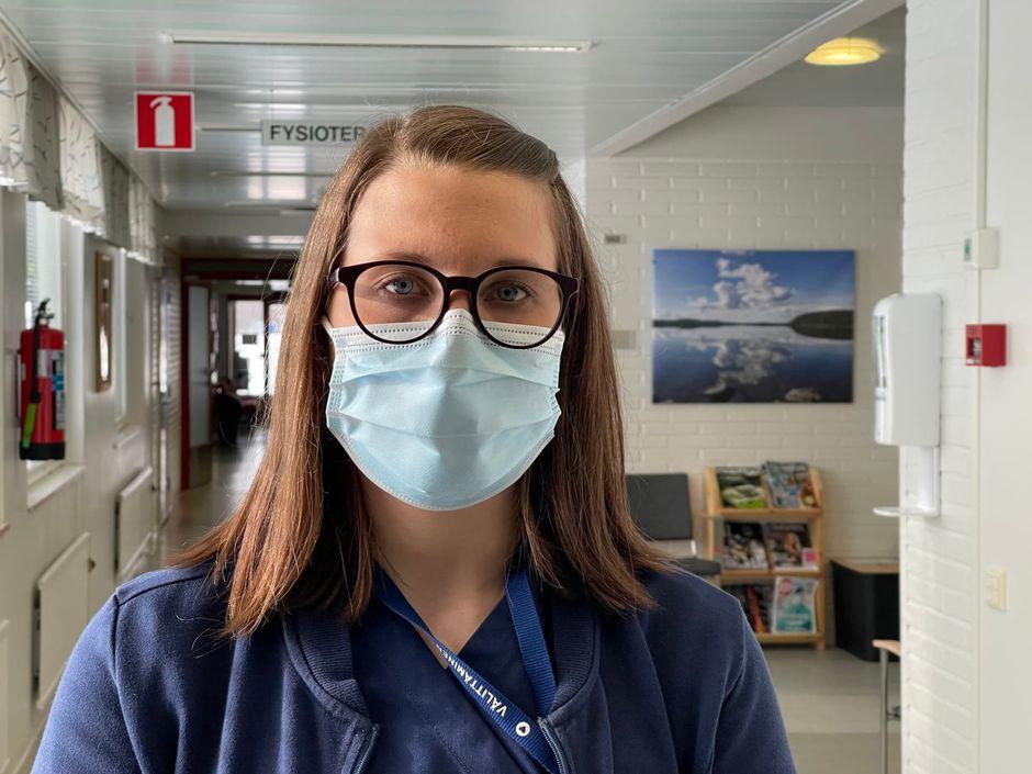 Inarin vastaava sairaanhoitaja Maria Pehkonen.