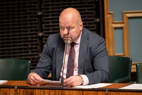 Juho Kautto eduskunnassa 24.10.2019
