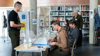 äänestyspaikka Inarissa