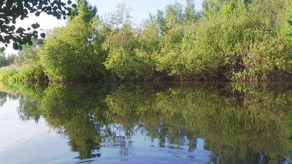 Keravanjoki elokuun alussa.