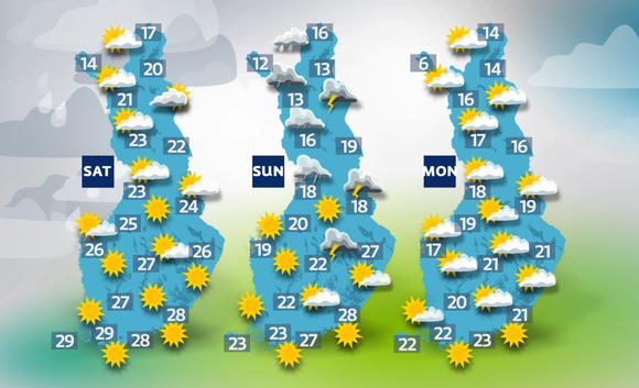 Storm Riikka heads to Finland on Sunday.