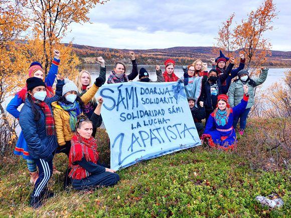 Zapatistien Journey for life -delegaatio vieraili Suomen Saamenmaalla syyskuussa 2021.